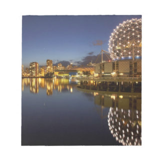 Science World and CBD reflected in False Creek, Notepad