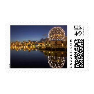 Science World and CBD reflected in False Creek, Postage Stamp