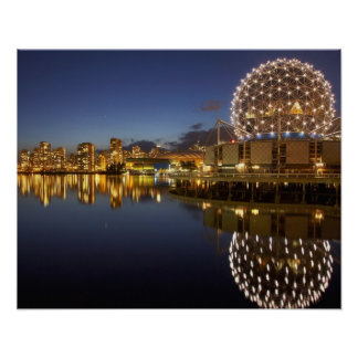 Science World and CBD reflected in False Creek, Poster