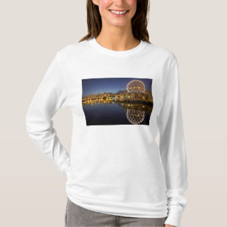 Science World and CBD reflected in False Creek, T-Shirt