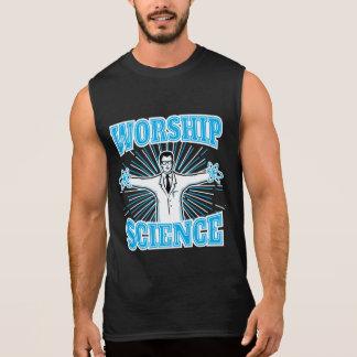 Science Worship Funny Geek & Atheist Anti-Religion Sleeveless T-shirt