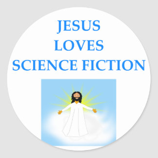 SCIENCEFICTION CLASSIC ROUND STICKER