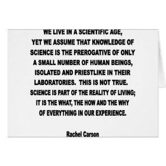 scientific age card
