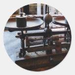 Scientific Balance Beam Classic Round Sticker