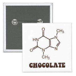 Scientific Chocolate Element Theobromine Molecule Pins