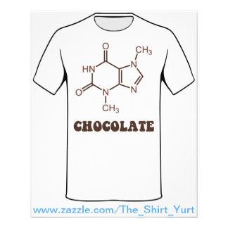 Scientific Chocolate Element Theobromine Molecule Flyer