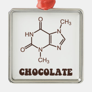 Scientific Chocolate Element Theobromine Molecule Metal Ornament