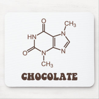 Scientific Chocolate Element Theobromine Molecule Mouse Pad