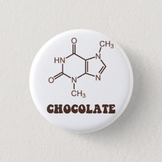 Scientific Chocolate Element Theobromine Molecule Pinback Button