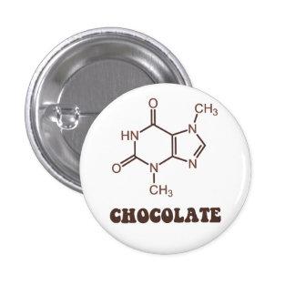 Scientific Chocolate Element Theobromine Molecule Pinback Button