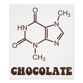 Scientific Chocolate Element Theobromine Molecule Posters