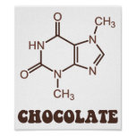 Scientific Chocolate Element Theobromine Molecule Poster