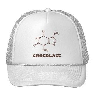 Scientific Chocolate Element Theobromine Molecule Trucker Hat