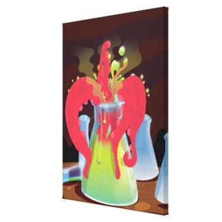 Scientific experiment flask Monster Canvas Print