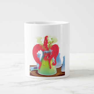 Scientific experiment flask Monster Large Coffee Mug