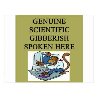 scientific gibberish postcard