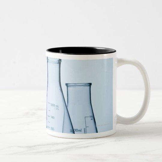 Scientific glassware blue Two-Tone coffee mug