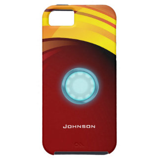 Scientific Glossy Blue Nuclear Reactor & Red Bg iPhone 5 Covers