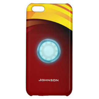 Scientific Glossy Blue Nuclear Reactor & Red Bg Case For iPhone 5C
