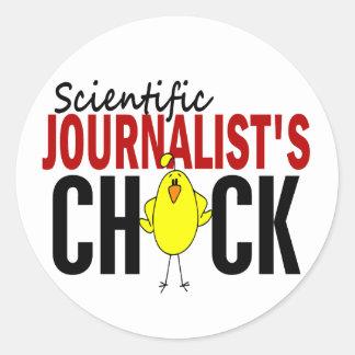 Scientific Journalist's Chick Stickers
