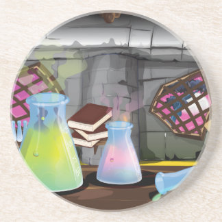 Scientific Laboratory with flasks and equipment Drink Coaster