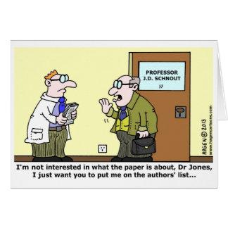 Scientific Paper Greeting Card