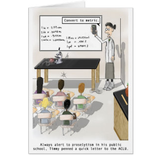 scientific proselytism greeting card