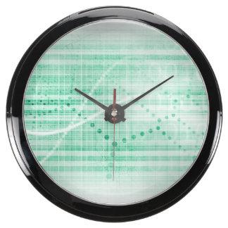 Scientific Research Chart for Medical Sales Art Aqua Clocks