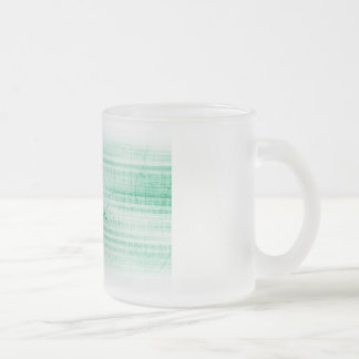 Scientific Research Chart for Medical Sales Art Frosted Glass Coffee Mug