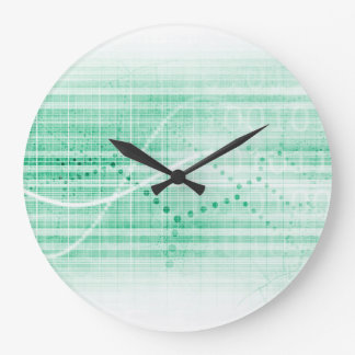 Scientific Research Chart for Medical Sales Art Large Clock