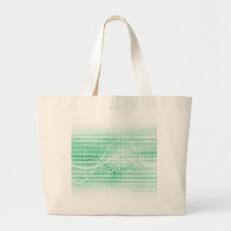 Scientific Research Chart for Medical Sales Art Large Tote Bag