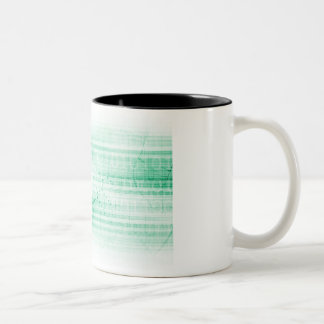 Scientific Research Chart for Medical Sales Art Two-Tone Coffee Mug