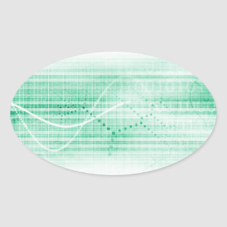 Scientific Research Chart for Medical Sales Art Oval Sticker