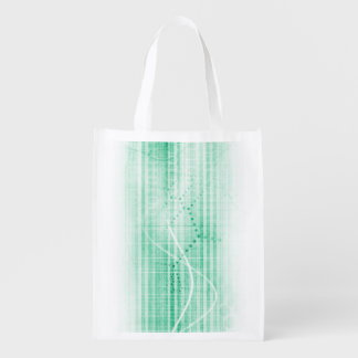 Scientific Research Chart for Medical Sales Art Reusable Grocery Bag