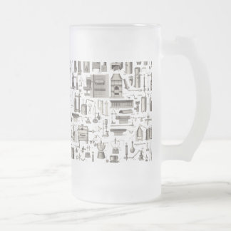 Scientific Tools 16 Oz Frosted Glass Beer Mug