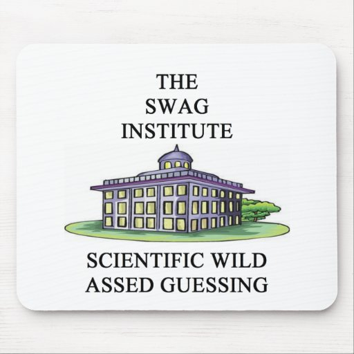 scientific wild assed guessing mouse pad