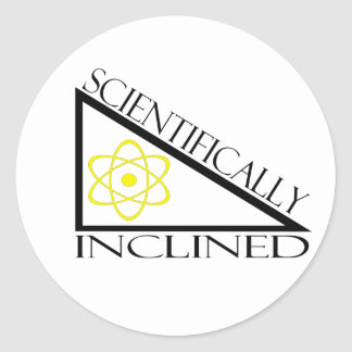 Scientifically Inclined Classic Round Sticker