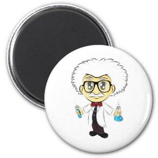 Scientist 2 Inch Round Magnet