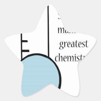 Scientist and Chemistry Star Sticker