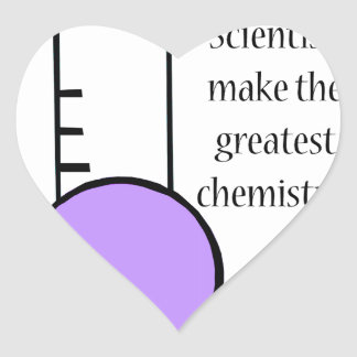 Scientist and Chemistry Heart Sticker