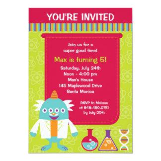 "Scientist Birthday Party Invitation 5"" X 7"" Invitation Card"