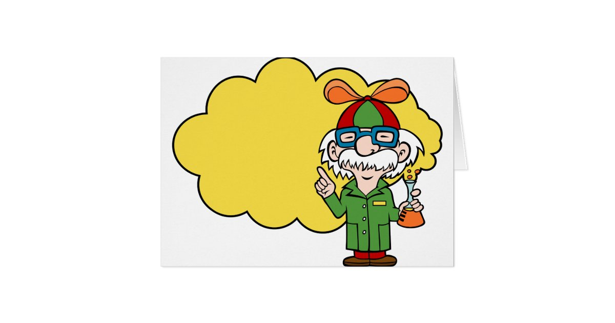 E Card Cartoon Characters : Scientist cartoon character card zazzle