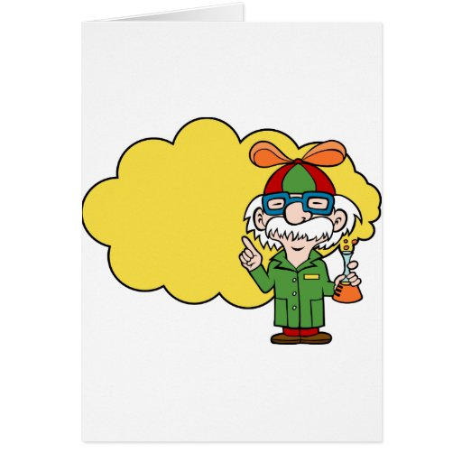 E Card Cartoon Characters : Scientist cartoon character greeting card zazzle