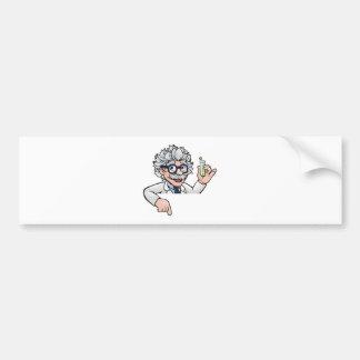 Scientist Cartoon Character Holding Test Tube Bumper Sticker