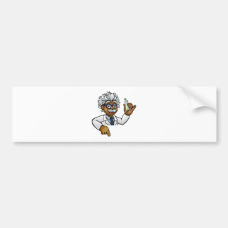 Scientist Cartoon Character Holding Test Tube Bumper Sticker