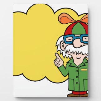 Scientist Cartoon Character Photo Plaque