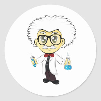 Scientist Classic Round Sticker