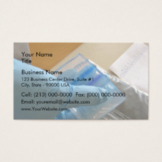 Scientist conducting an experiment business card