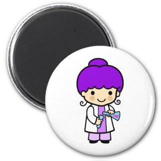 Scientist Girl 2 2 Inch Round Magnet