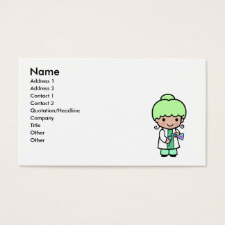 Scientist Girl Business Card